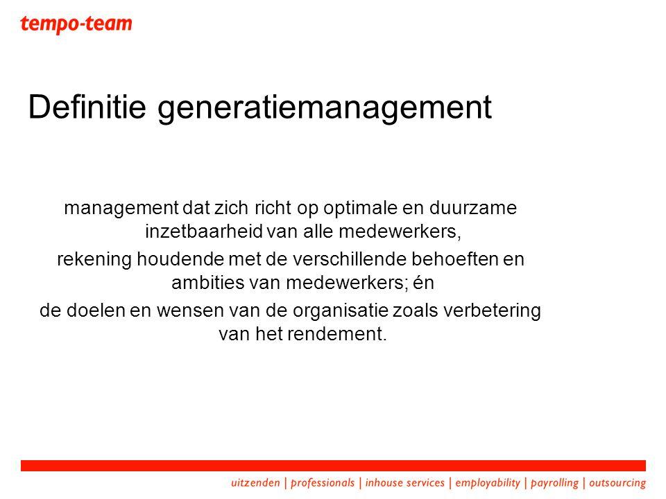 Definitie generatiemanagement
