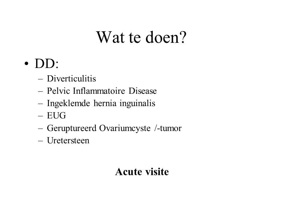 Wat te doen DD: Acute visite Diverticulitis