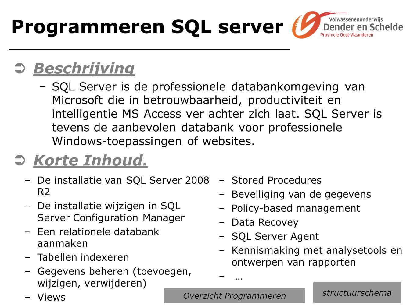 Programmeren SQL server