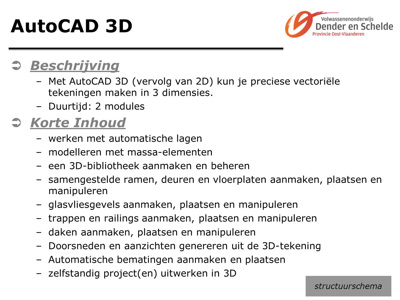 AutoCAD 3D Beschrijving Korte Inhoud