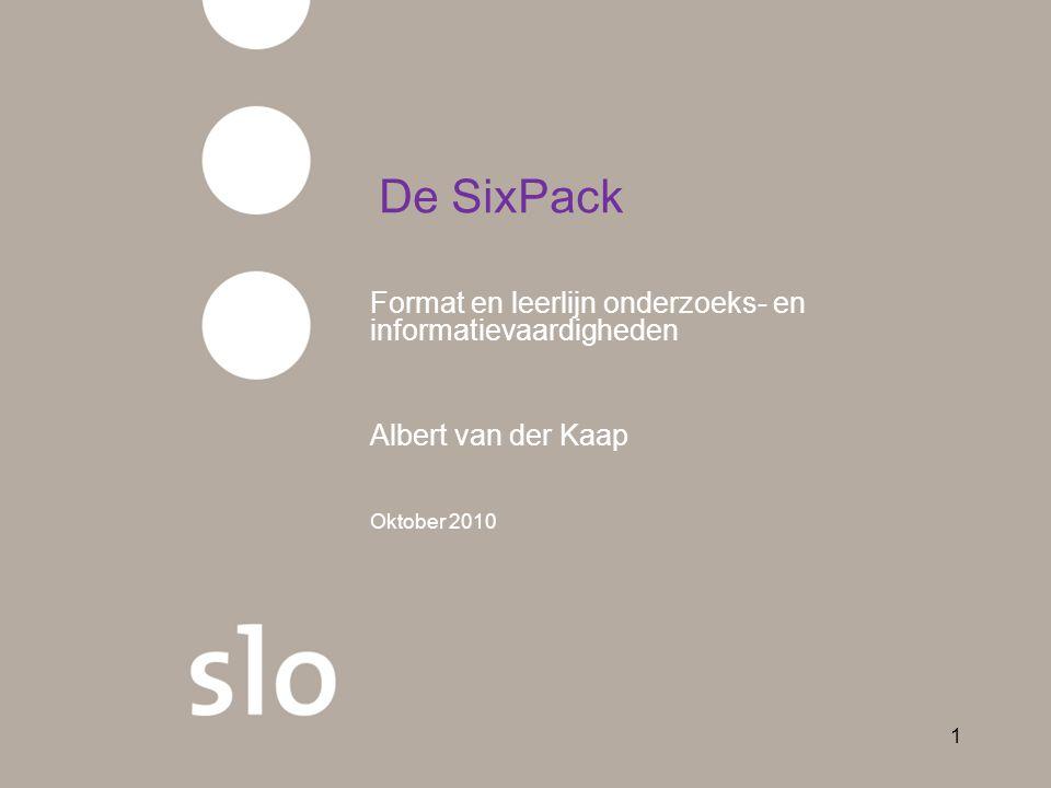 De SixPack Format en leerlijn onderzoeks- en informatievaardigheden