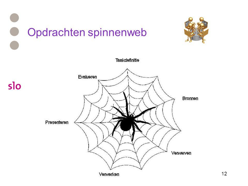 Opdrachten spinnenweb
