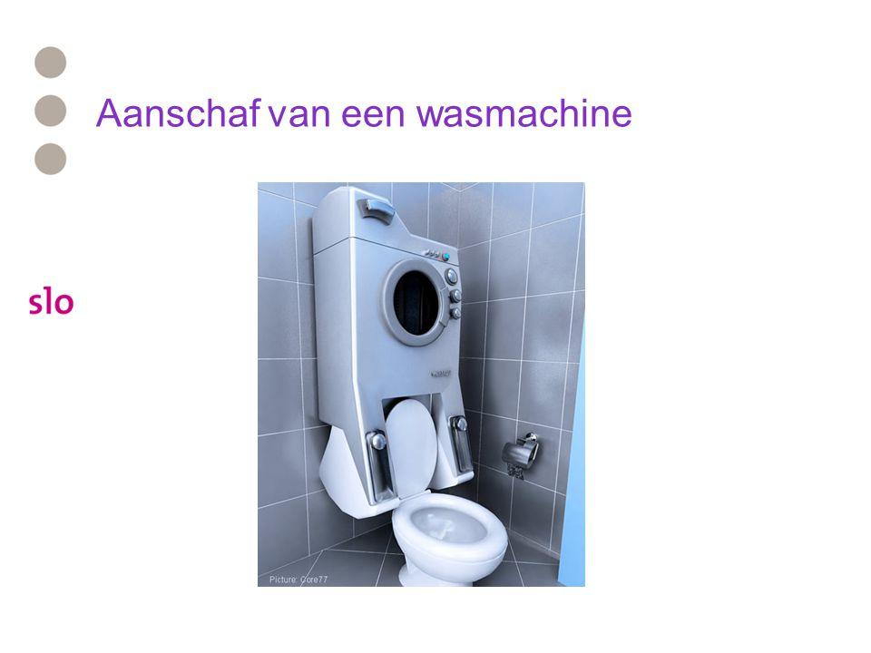 Aanschaf van een wasmachine