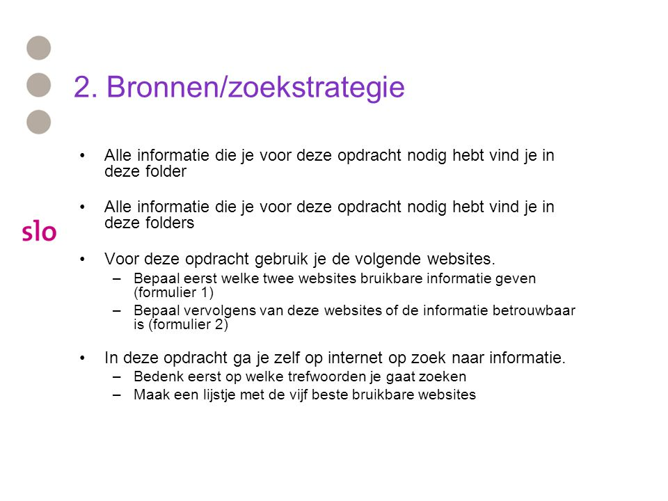 2. Bronnen/zoekstrategie