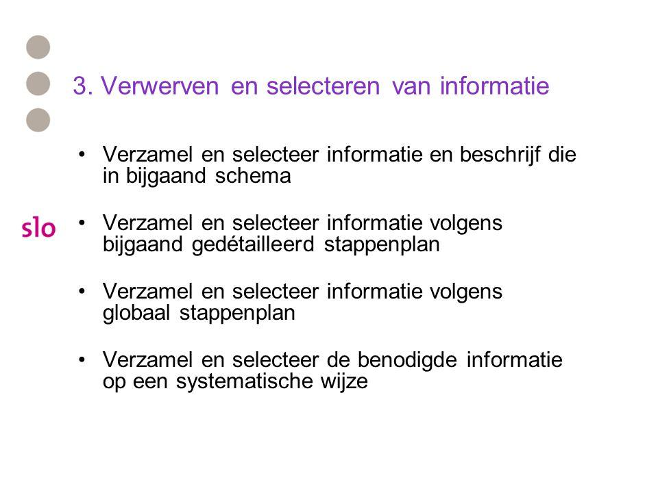 3. Verwerven en selecteren van informatie