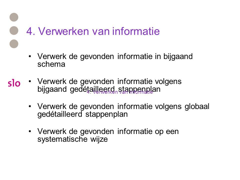 4. Verwerken van informatie