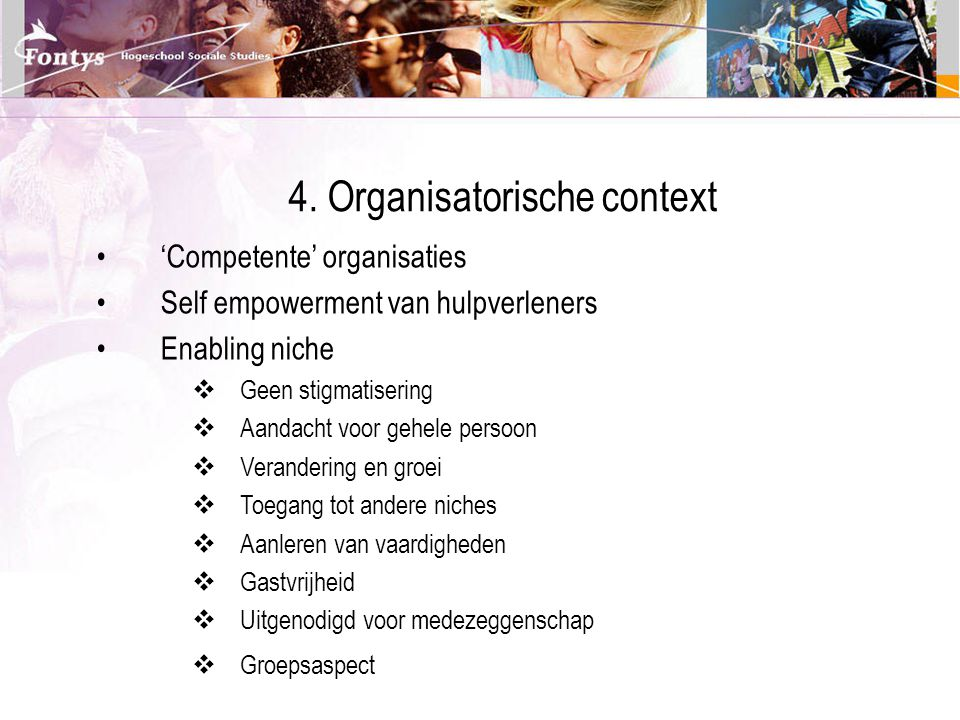 4. Organisatorische context