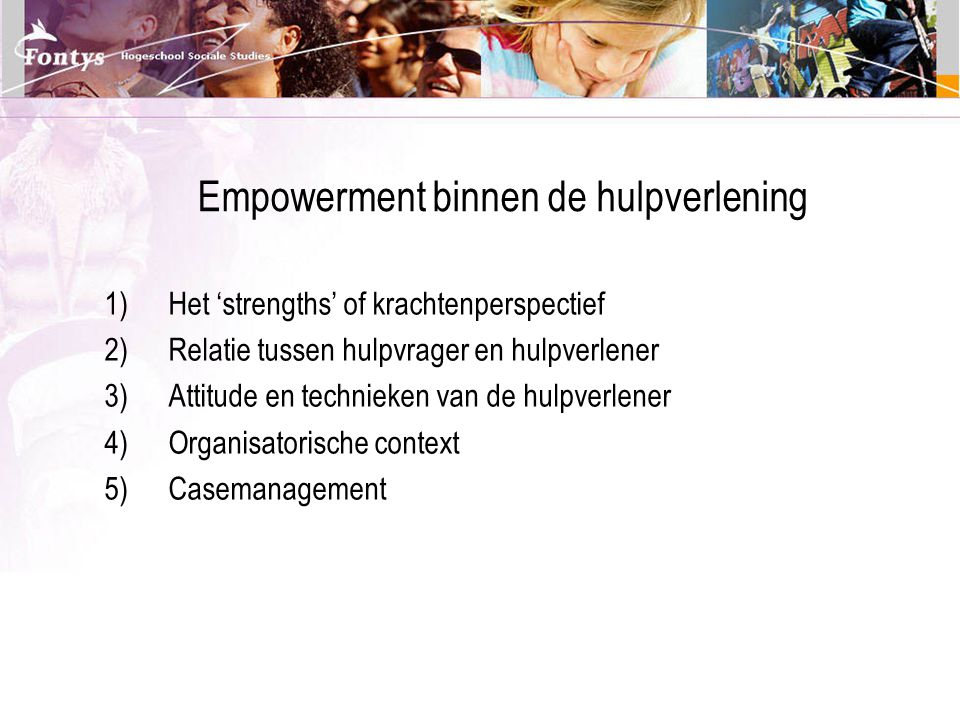 Empowerment binnen de hulpverlening