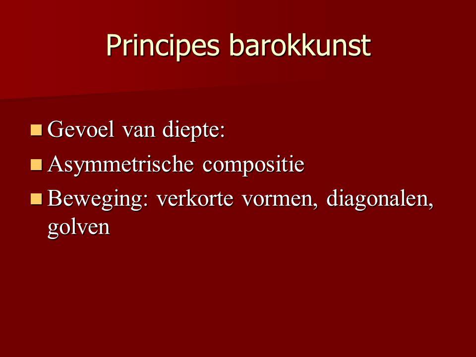Principes barokkunst Gevoel van diepte: Asymmetrische compositie