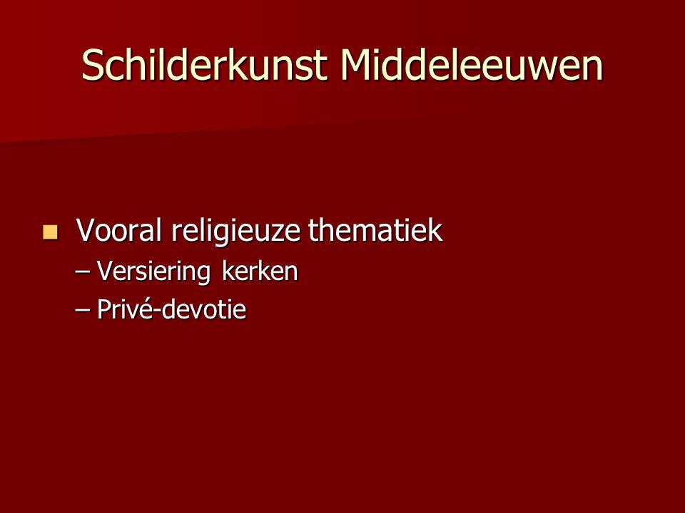 Schilderkunst Middeleeuwen