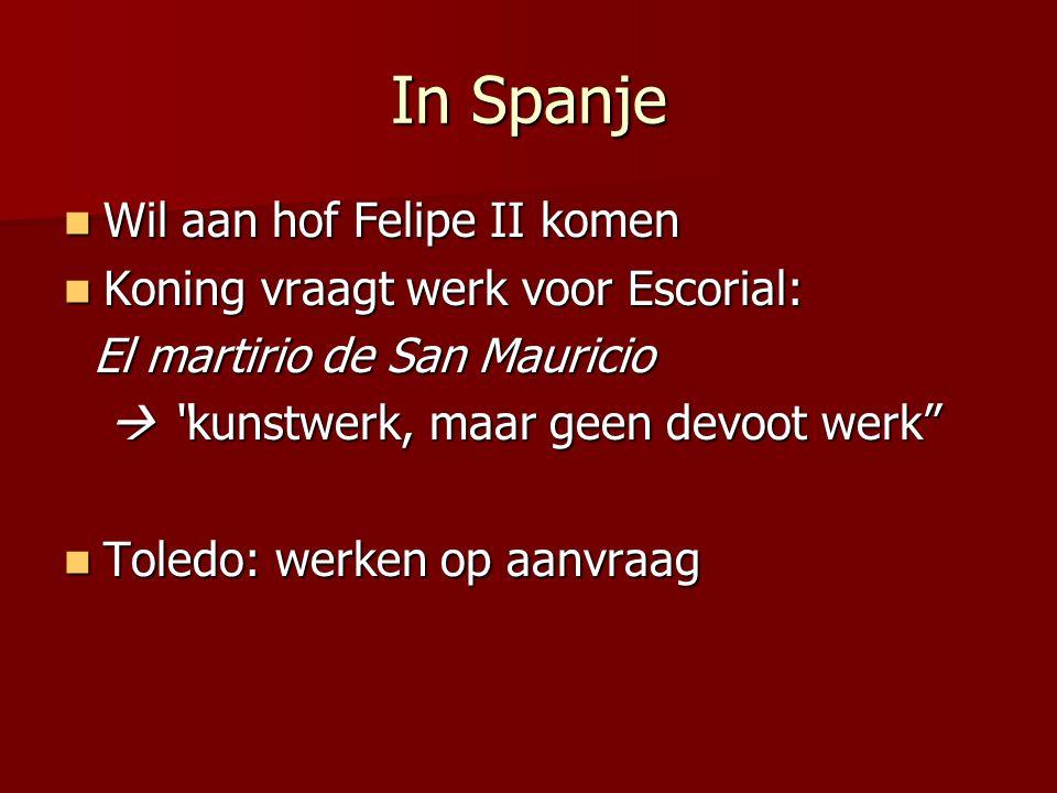 In Spanje Wil aan hof Felipe II komen