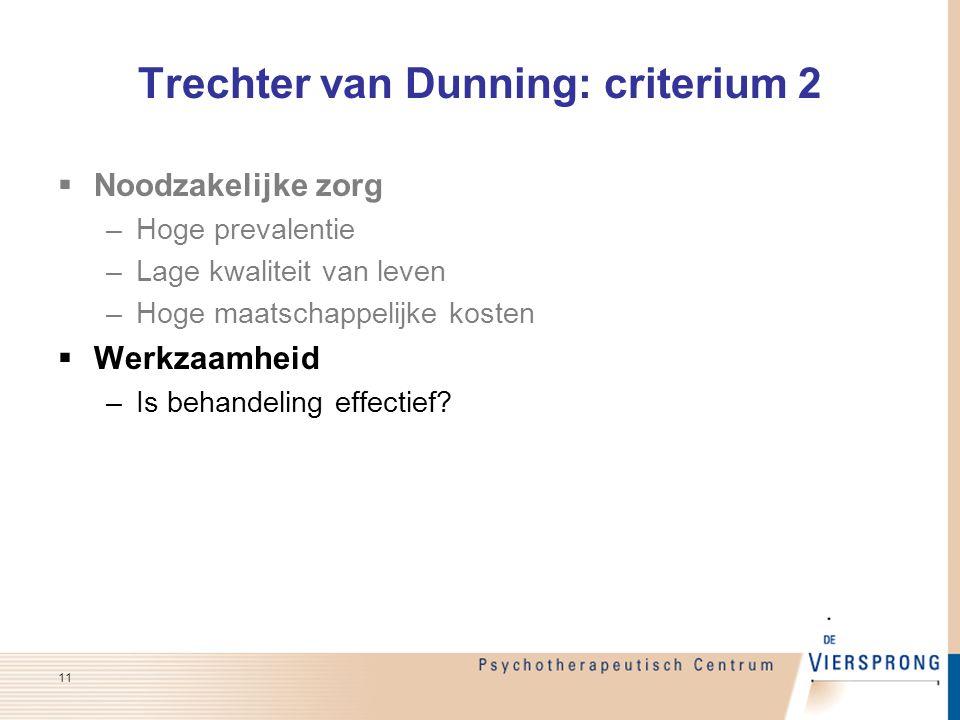 Trechter van Dunning: criterium 2