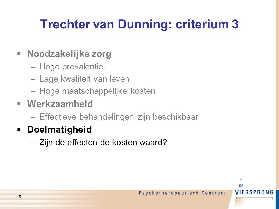 Trechter van Dunning: criterium 3