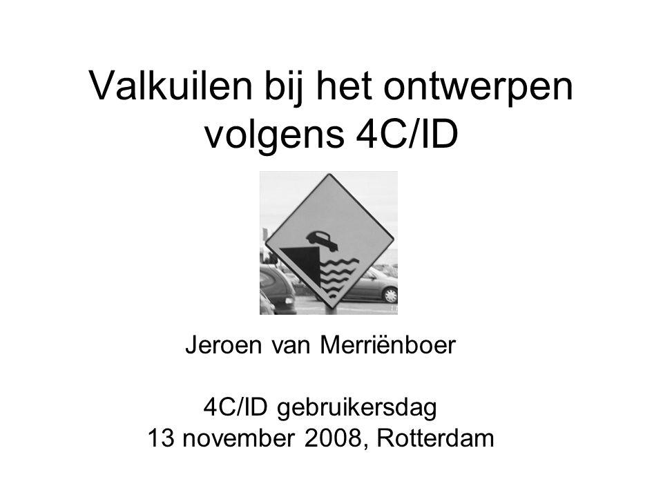 Valkuilen bij het ontwerpen volgens 4C/ID
