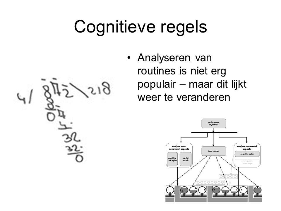 Cognitieve regels Analyseren van routines is niet erg populair – maar dit lijkt weer te veranderen