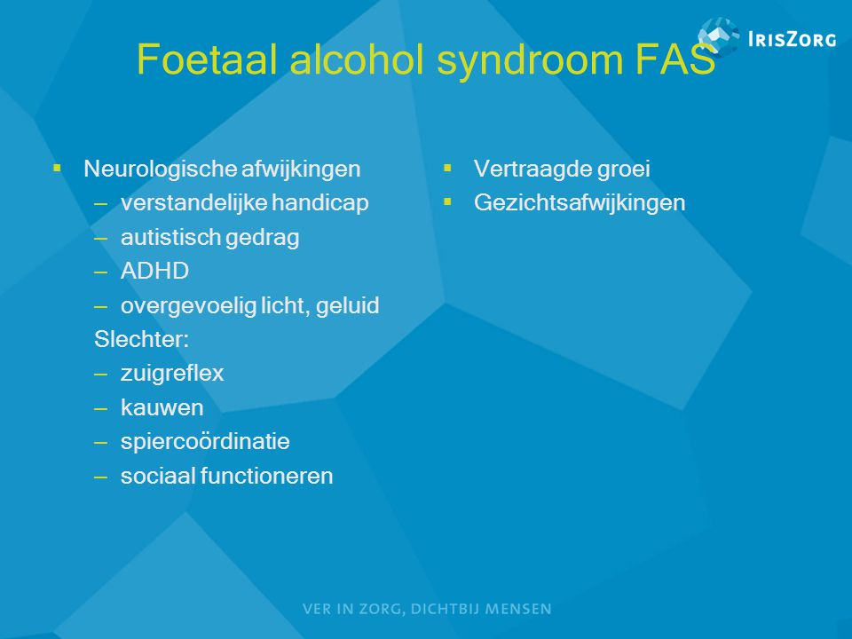 Foetaal alcohol syndroom FAS