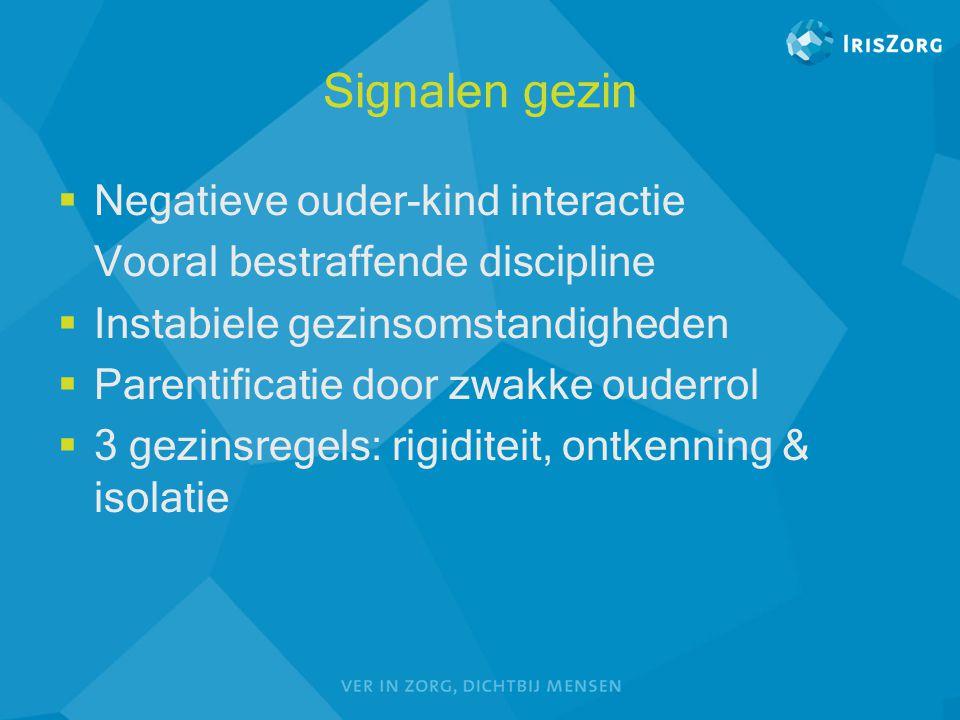 Signalen gezin Negatieve ouder-kind interactie