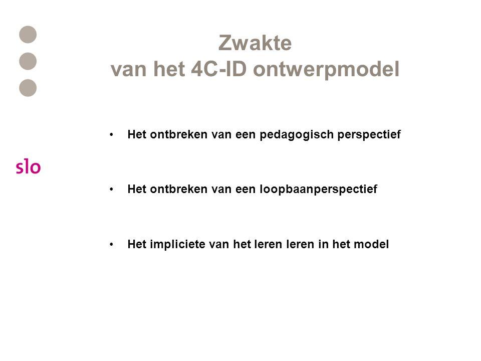 Zwakte van het 4C-ID ontwerpmodel