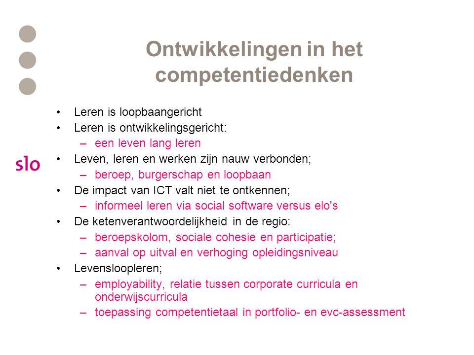 Ontwikkelingen in het competentiedenken