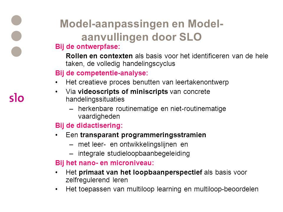 Model-aanpassingen en Model-aanvullingen door SLO