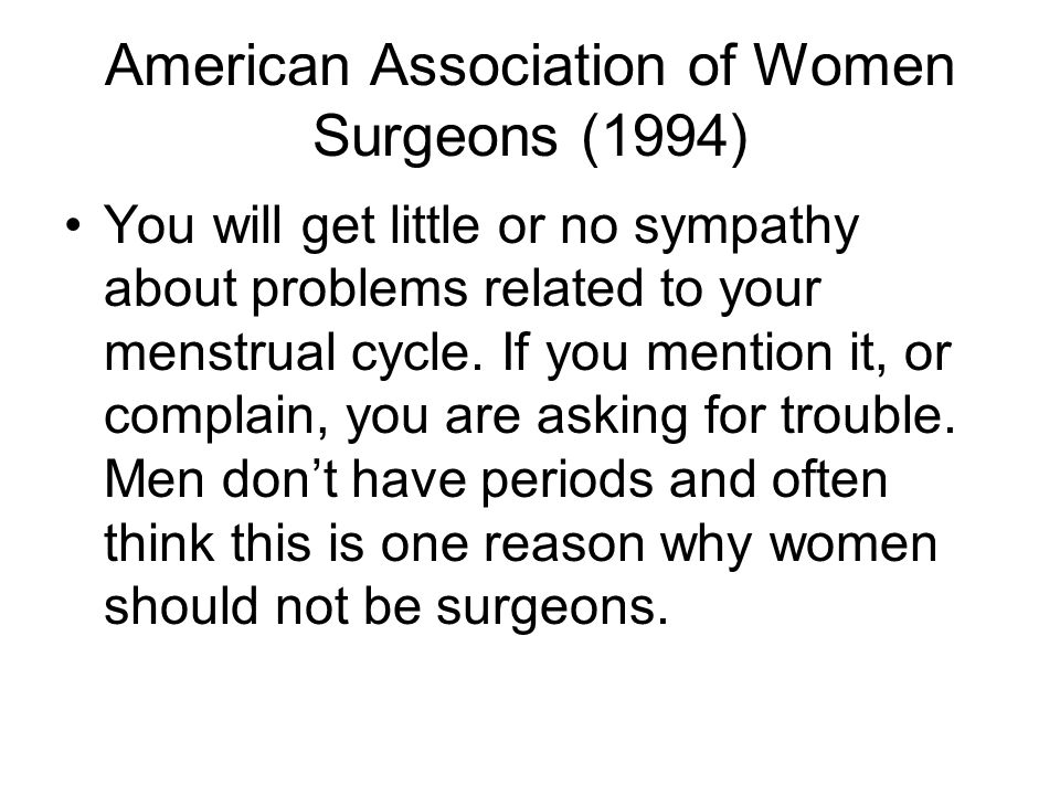 American Association of Women Surgeons (1994)