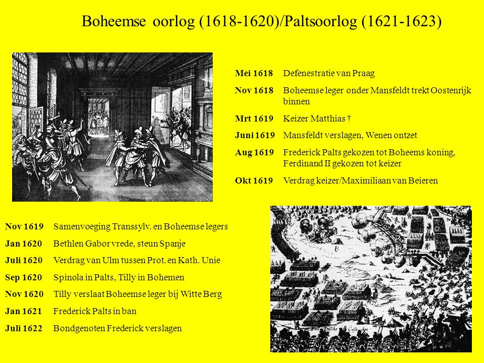 Boheemse oorlog (1618-1620)/Paltsoorlog (1621-1623)