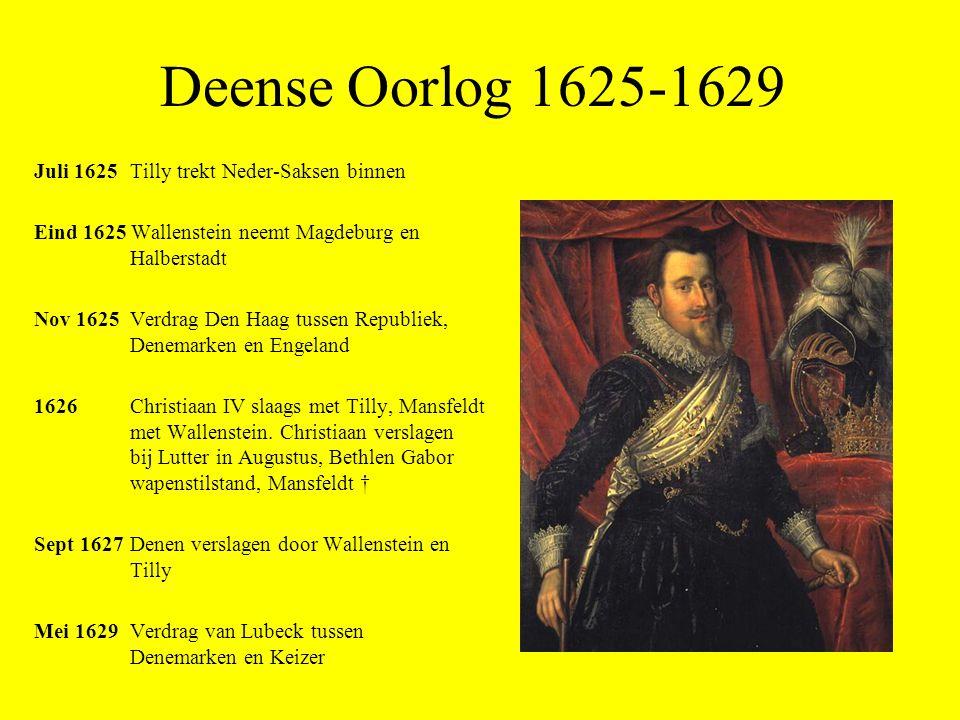 Deense Oorlog 1625-1629 Juli 1625 Tilly trekt Neder-Saksen binnen