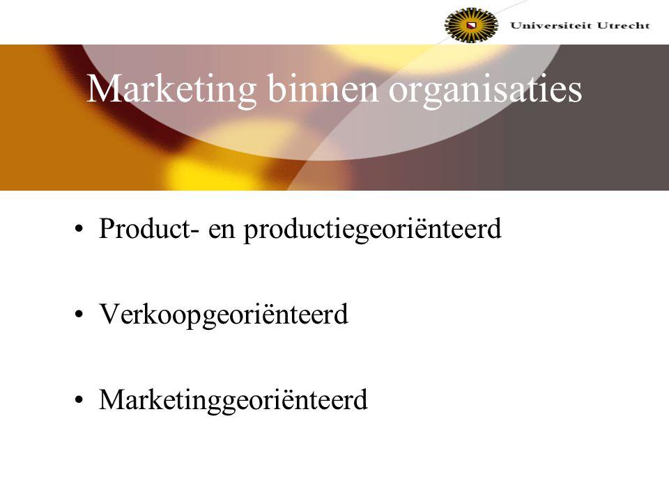 Marketing binnen organisaties