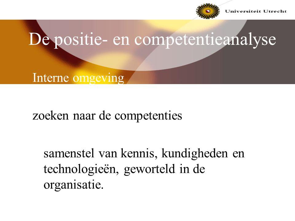 De positie- en competentieanalyse