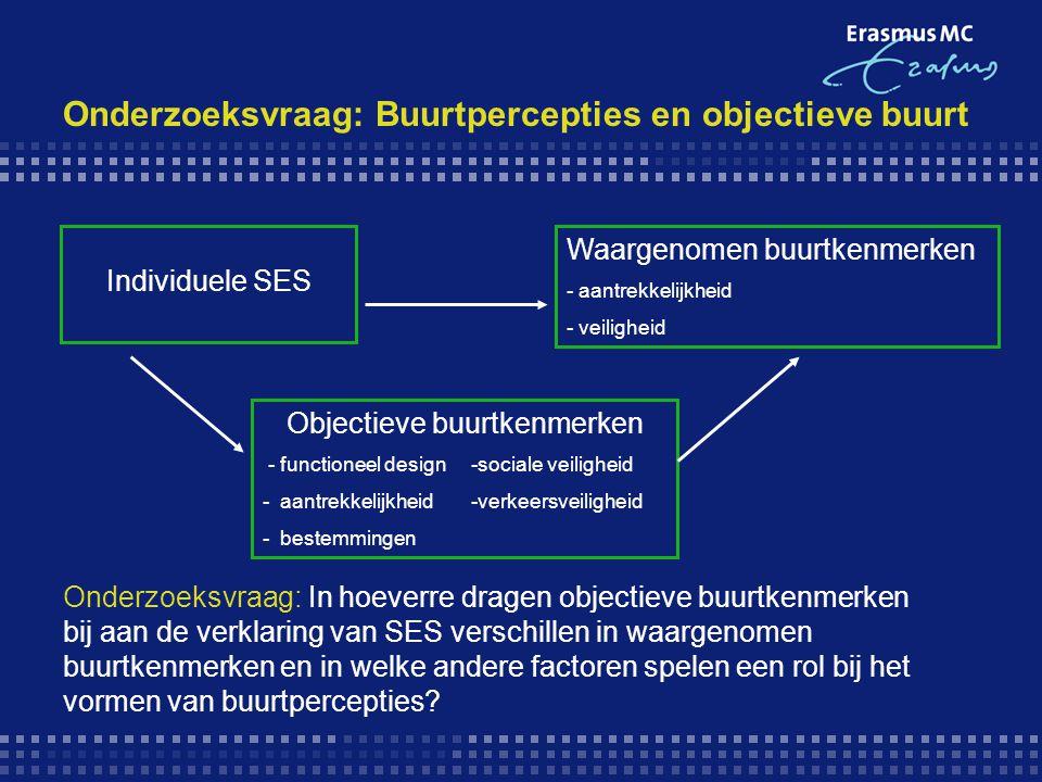 Onderzoeksvraag: Buurtpercepties en objectieve buurt