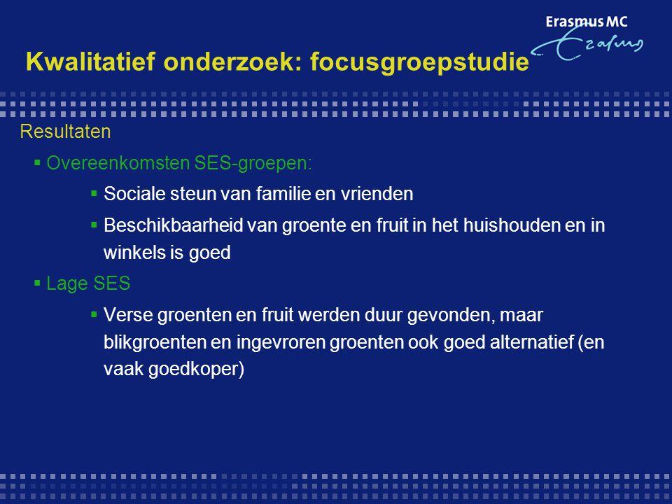 Kwalitatief onderzoek: focusgroepstudie