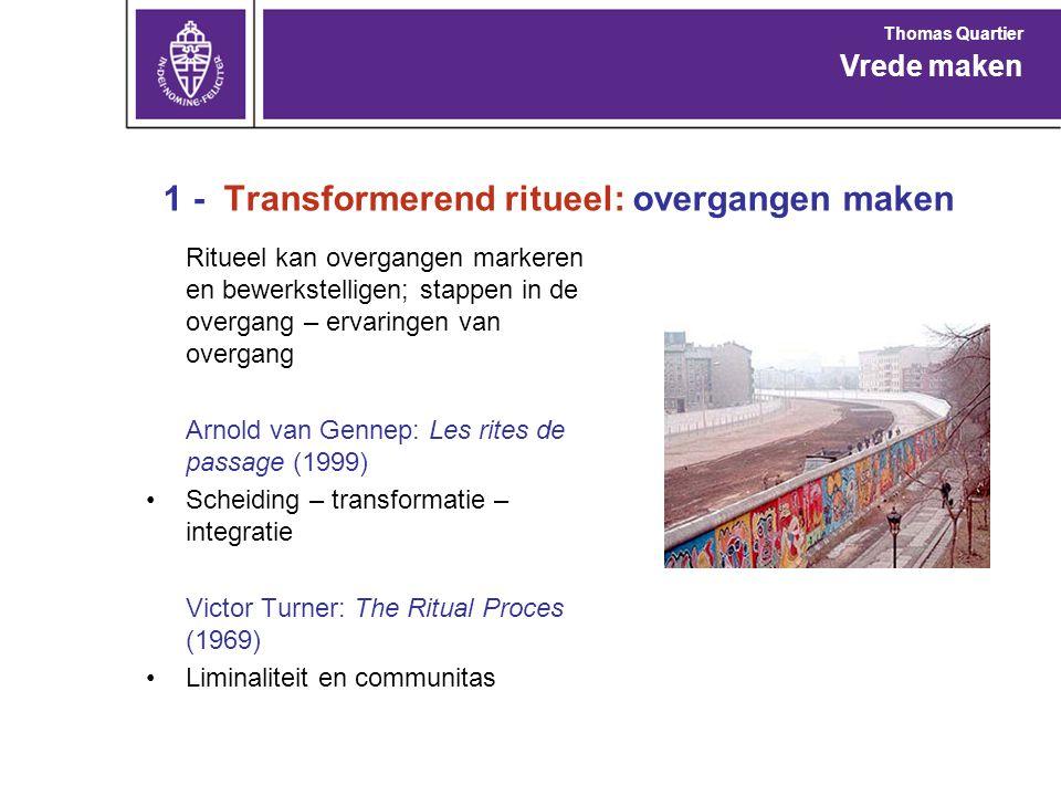 1 - Transformerend ritueel: overgangen maken