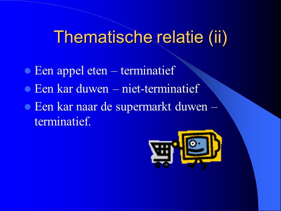 Thematische relatie (ii)