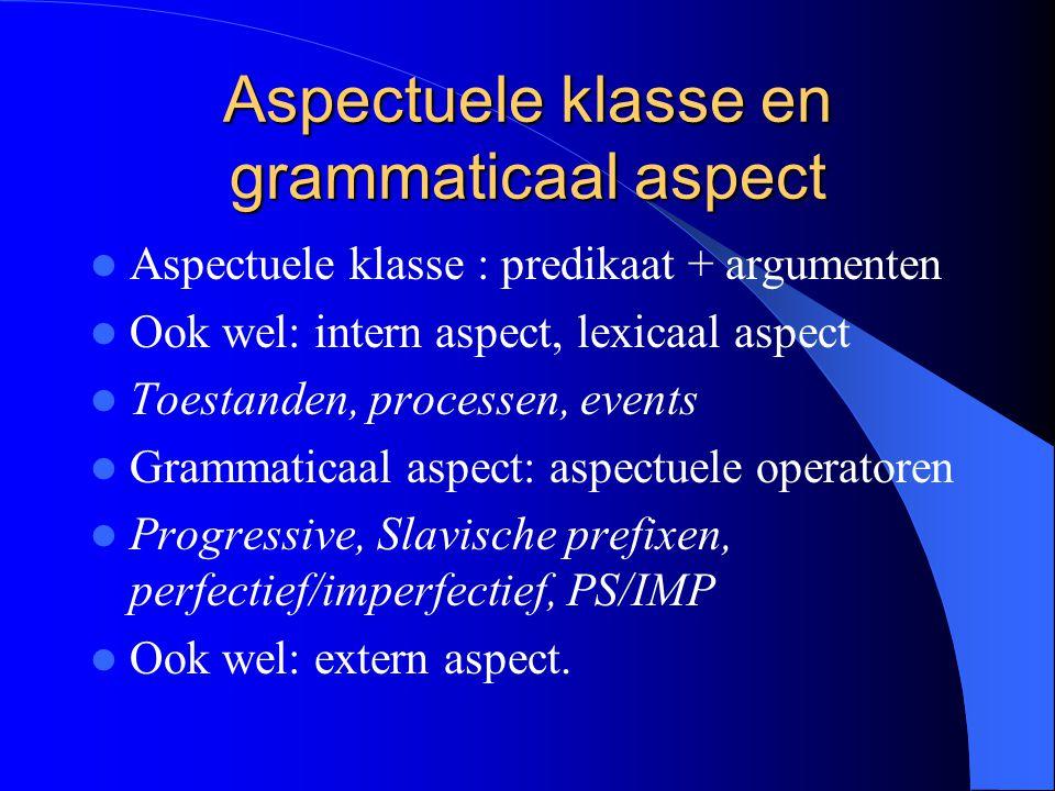 Aspectuele klasse en grammaticaal aspect