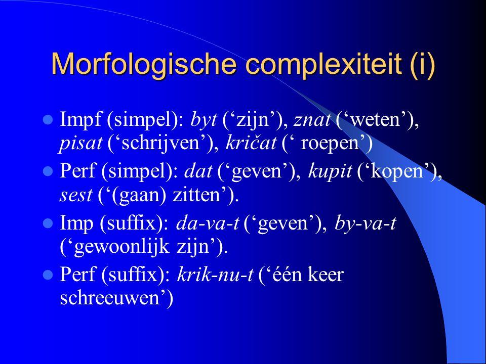 Morfologische complexiteit (i)