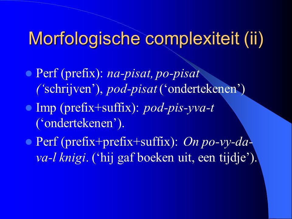 Morfologische complexiteit (ii)