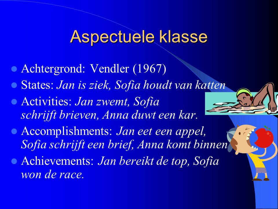 Aspectuele klasse Achtergrond: Vendler (1967)