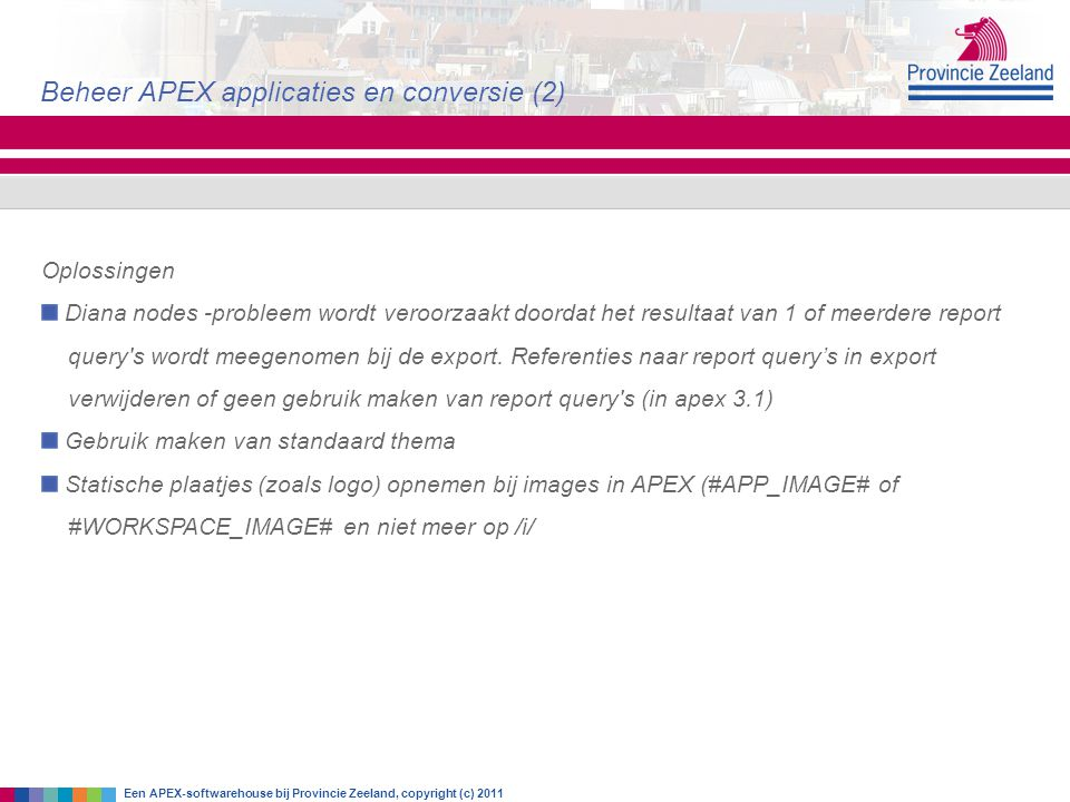 Beheer APEX applicaties en conversie (2)