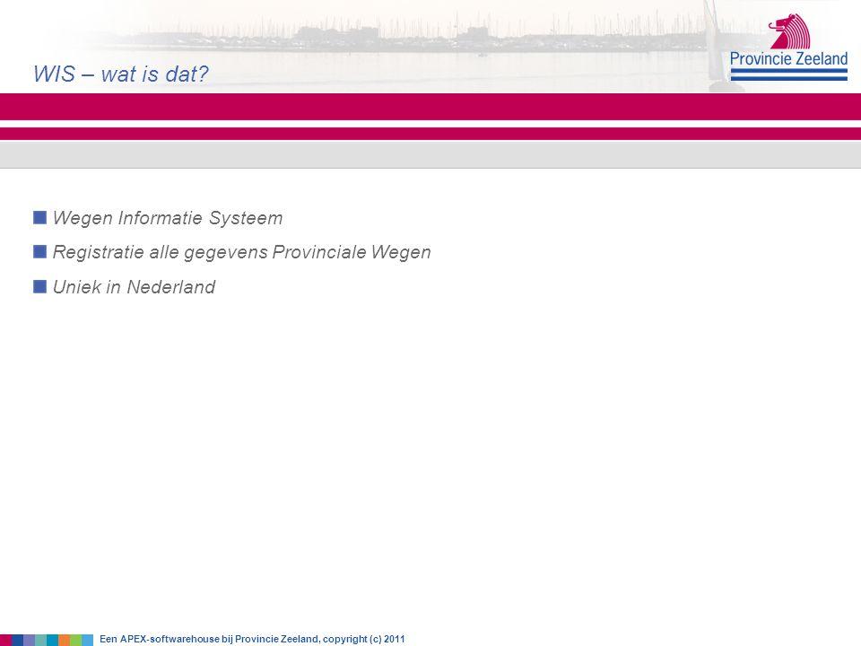 WIS – wat is dat Wegen Informatie Systeem