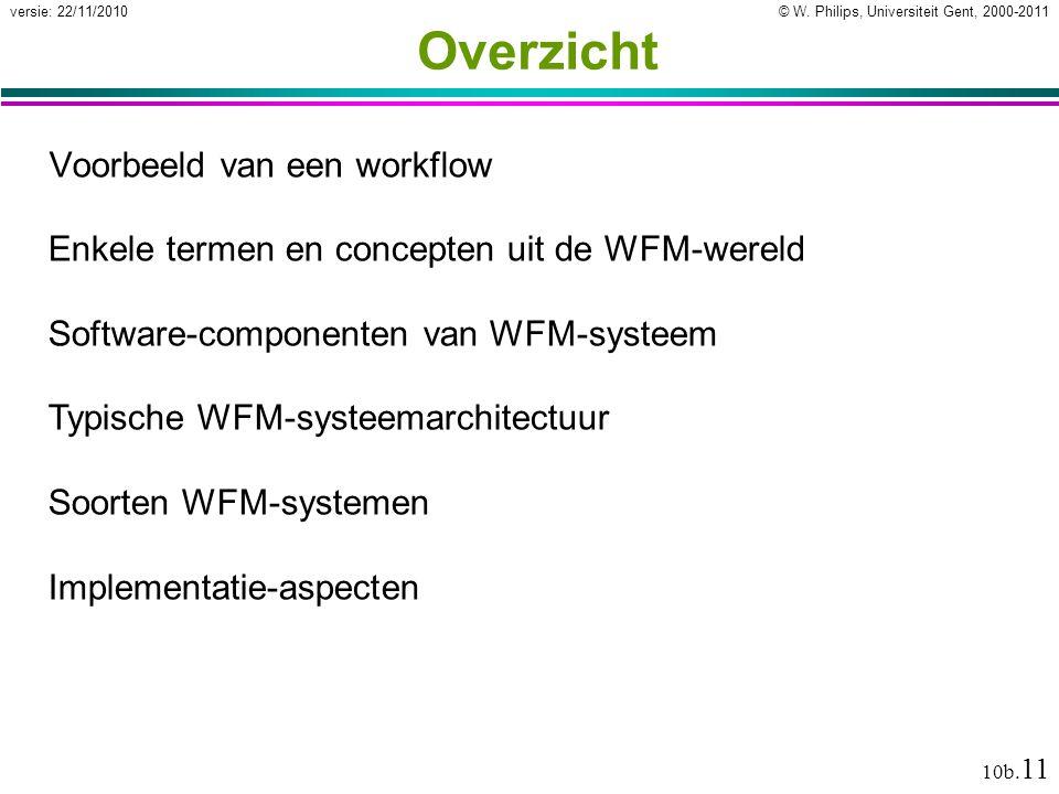 Overzicht Voorbeeld van een workflow