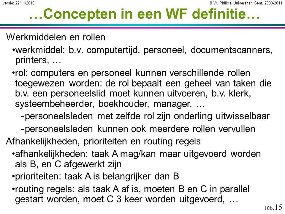 …Concepten in een WF definitie…