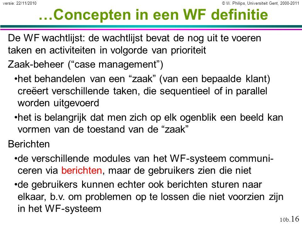 …Concepten in een WF definitie