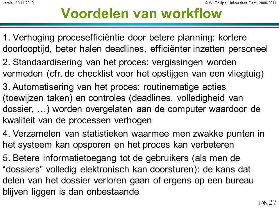 Voordelen van workflow