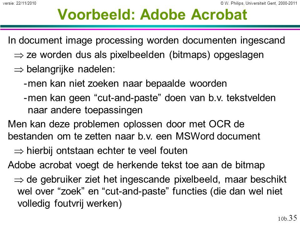 Voorbeeld: Adobe Acrobat