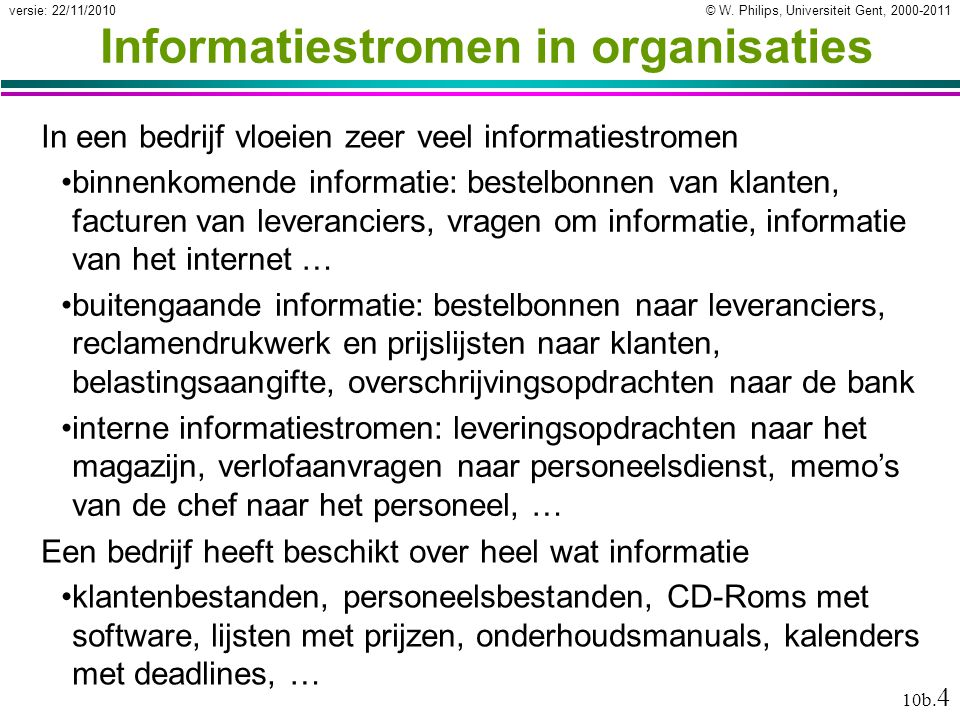 Informatiestromen in organisaties