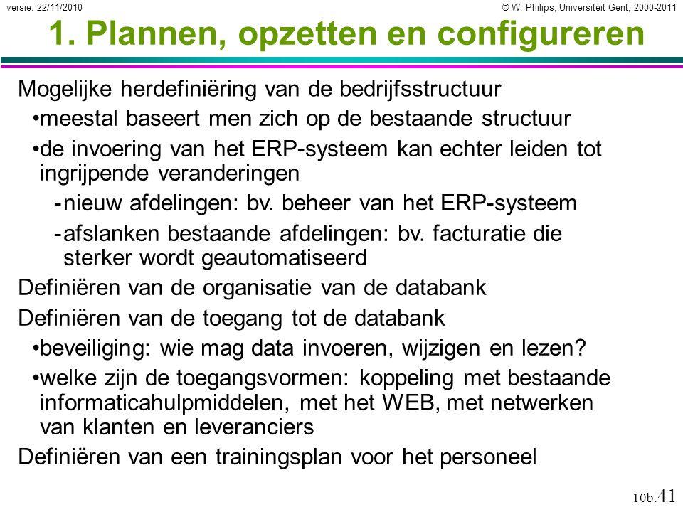 1. Plannen, opzetten en configureren