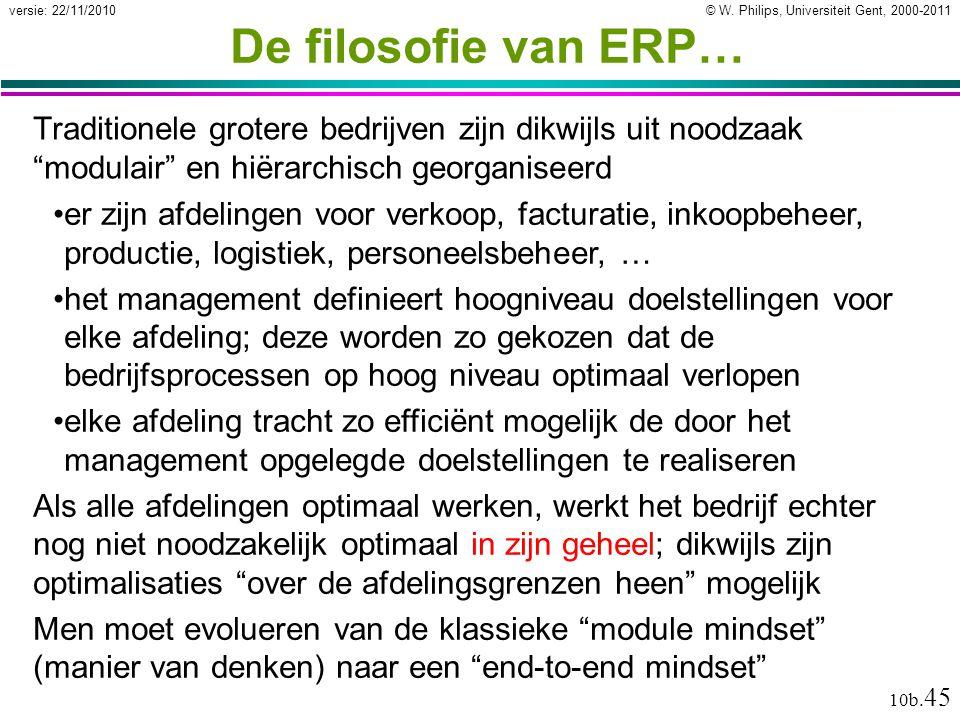 De filosofie van ERP… Traditionele grotere bedrijven zijn dikwijls uit noodzaak modulair en hiërarchisch georganiseerd.