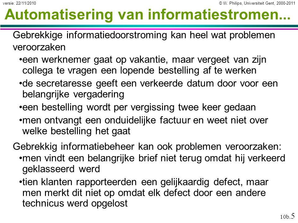 Automatisering van informatiestromen...