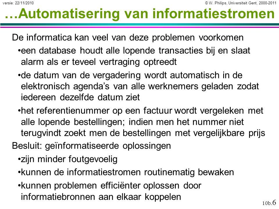 …Automatisering van informatiestromen
