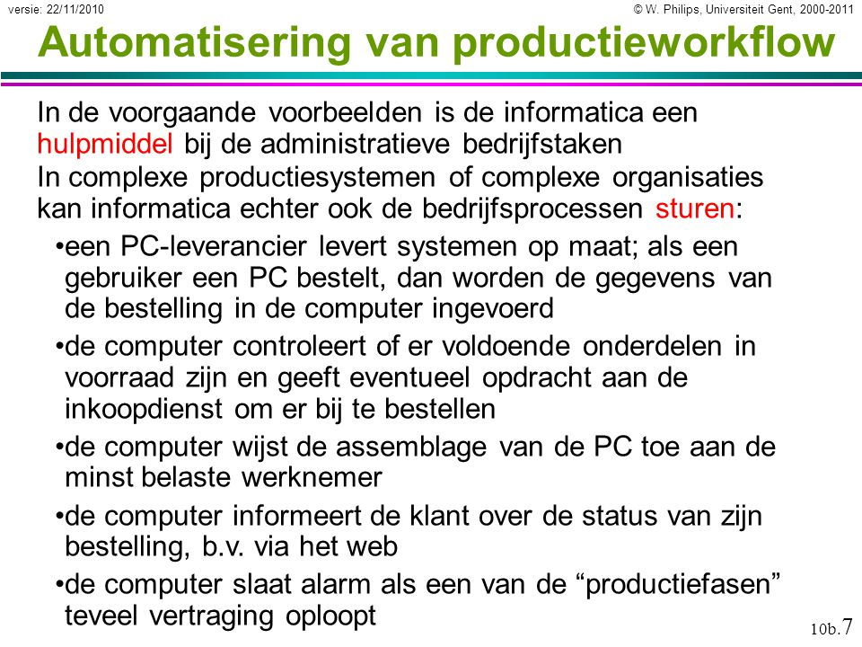 Automatisering van productieworkflow